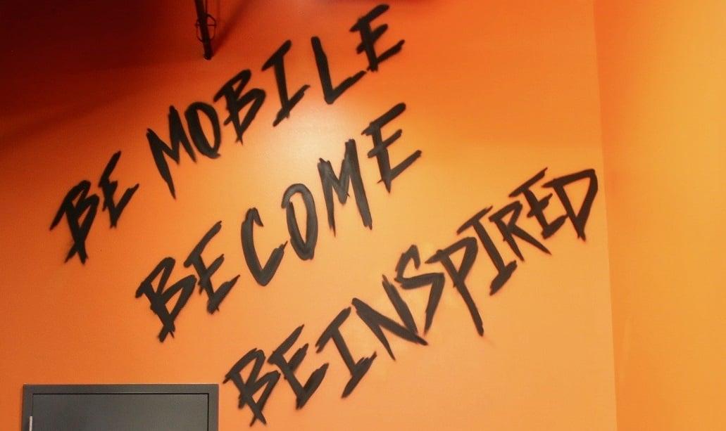slogan on wall