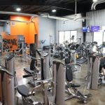 gym interior equipment